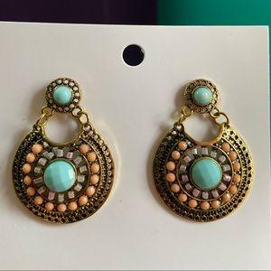 Unworn Francesca's Multi Statement Drop Earrings!